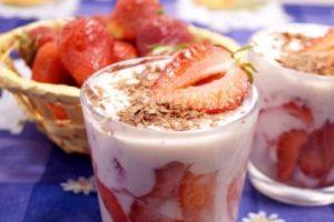 Творожный десерт с клубникой «Милано»