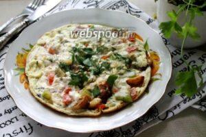Омлет с овощами и творогом